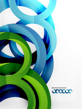 Vector 3d rings design background