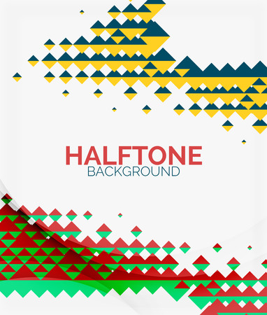 Halftone color texture background