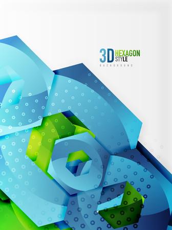Vector 3d hexagon background