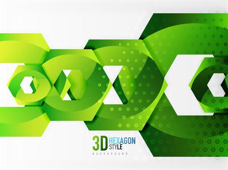 Vector 3d Effekt hexagon Hintergrund