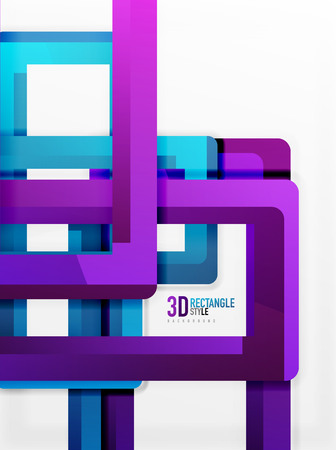 Rectangle tube elements, vector 3d background