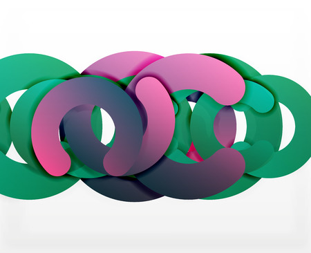 tillable: Circle geometric abstract background, colorful business or technology design for web