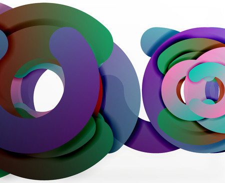 tillable: Circle geometric abstract background, colorful business or technology design for web.