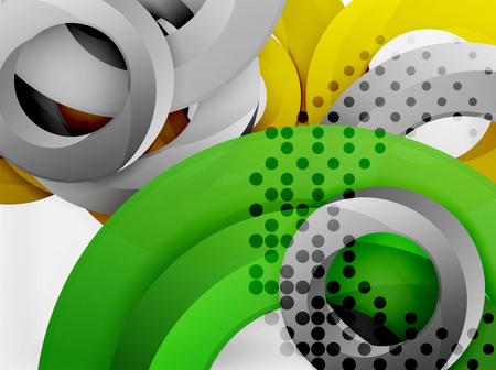 ellipse: Circle vector background design with abstract swirls
