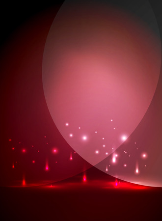 Falling lights in darkness, magic vector abstract background