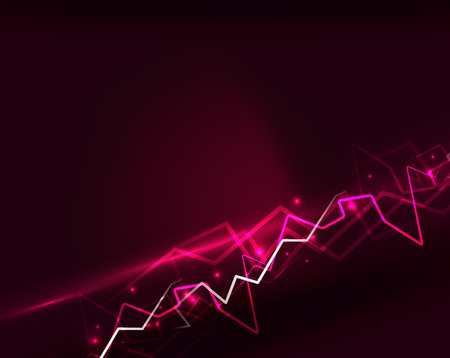 dazzle: Neon lightning vector background Illustration