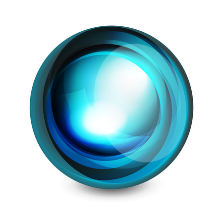 reflection in mirror: Glass sphere, futuristic abstract element. Vector illustration for your text, photo inside or message.