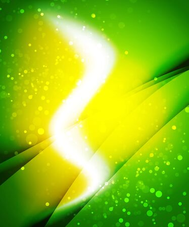 Shiny wave, magic light efffect vector abstract background