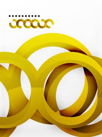 Vector 3d rings and swirls design background Stock Photo