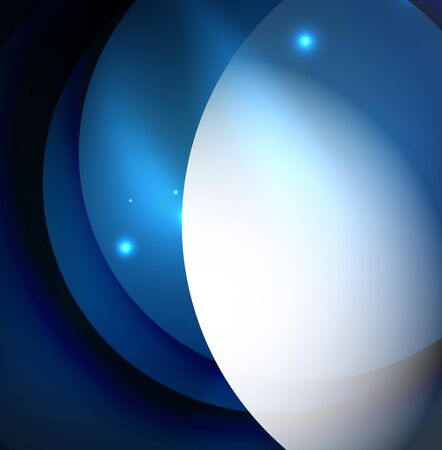 illuminate: Overlapping circles on glowing abstract background Illustration