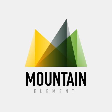 Mountain logo geometric design