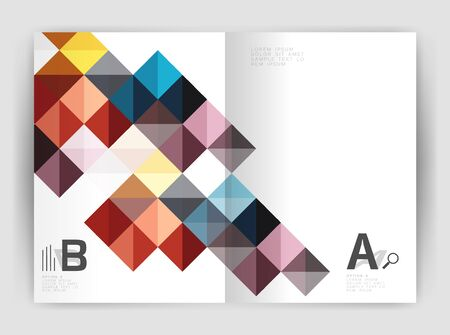 Vector square minimalistic abstract background, print template business brochure a4