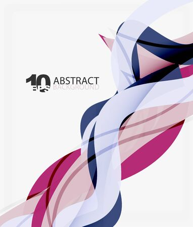 fresh idea: Vector wave lines abstract background Illustration
