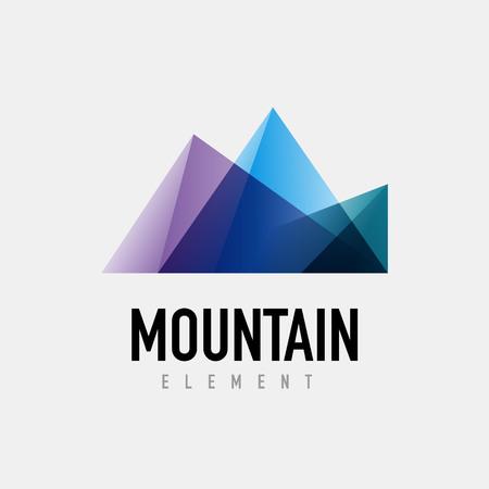 Mountain logo geometric design, simple modern logotype Illustration