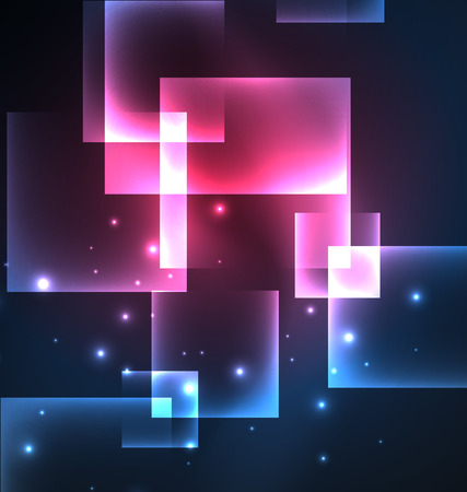 nighttime: Dark background design with blue shiny glowing effects, lines and glass squares Illustration