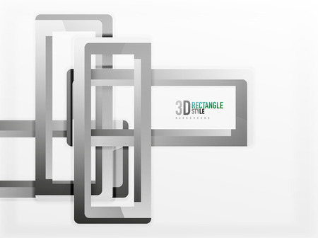 diminishing perspective: Rectangle tube elements, vector background