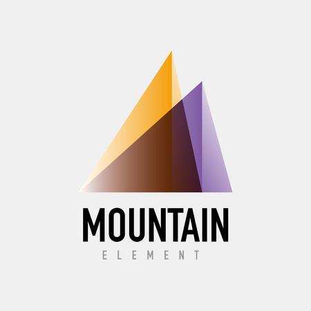 quirky: Mountain logo geometric design, simple modern logotype Illustration