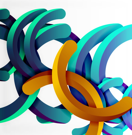 Modern 3d geometrical style background, arch circular lines Illustration