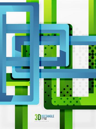 heap: Rectangle tube elements, vector 3d background