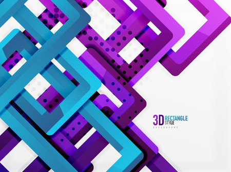 sewerage: Rectangle tube elements, vector 3d background