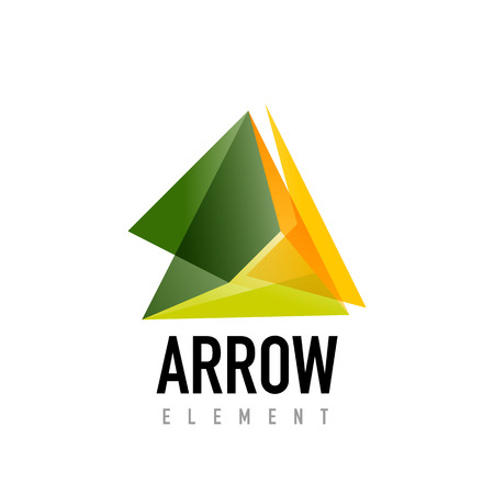 Vector arrow geometric design
