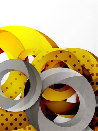 ellipse: Circle background design Illustration