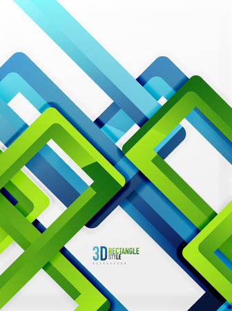 Rectangle tube elements, vector background