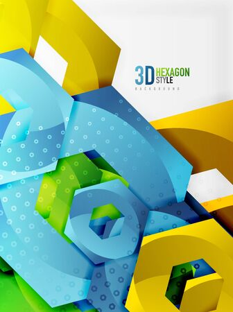 diamond texture: A Vector 3d effect hexagon background.