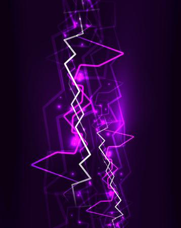 Neon lightning vector background Ilustrace