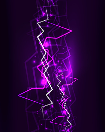 Neon lightning vector background Illustration