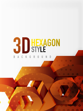 diamond texture: Vector 3d effect hexagon background