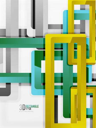sewage: Rectangle tube elements, vector background