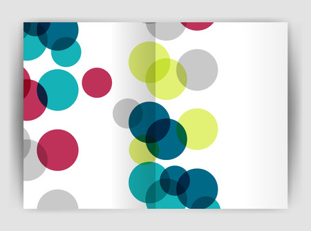 catalog: Abstract circles, annual report covers. Modern business brochure templates. Illustration