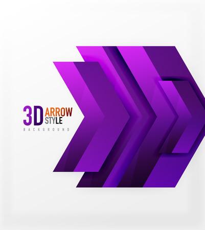 Techno arrow background, vector template design