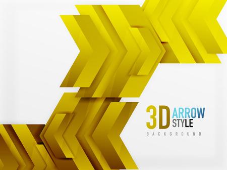 array: Techno arrow background, vector template design
