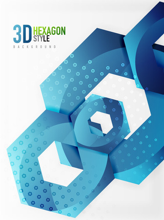 Vector 3d hexagon background