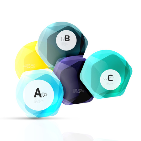 rectangle button: Aqua glossy glass elements Illustration