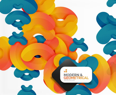 boublik: Abstract color geometric round shapes