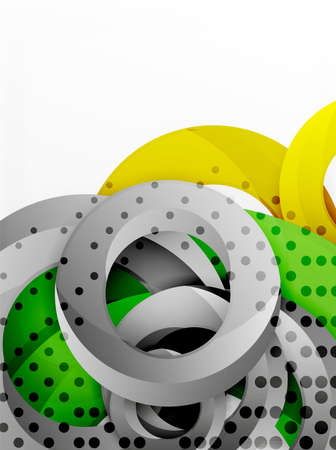 composite: Circle background design Illustration