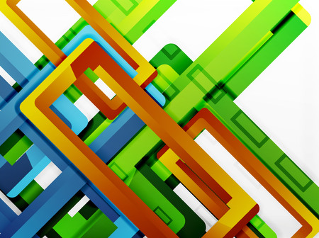 Rectangle tube elements vector background