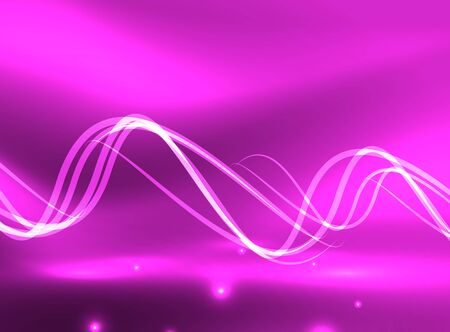 rainbow abstract: Glowing purple shiny wave background, vector energy concept illustration