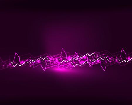 Neon lightning vector background Illustration