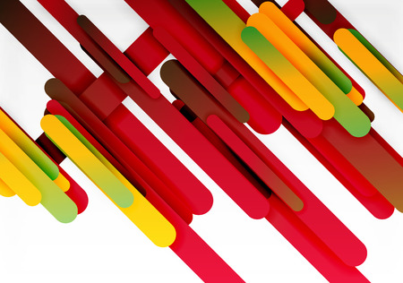 smooth background: Cut 3d paper color straight lines vector abstract background Illustration