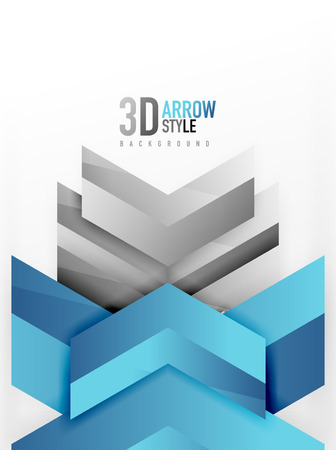 angular: Techno arrow background, vector template design