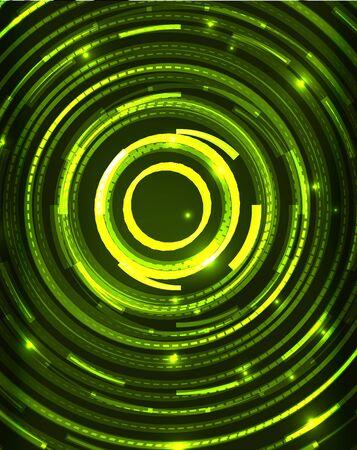 illuminate: Neon circles abstract background Illustration