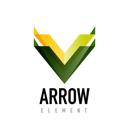 Vector arrow geometric design