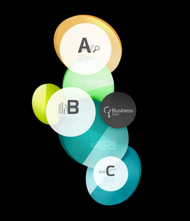 Geometrical abstract infographics banner template Illustration