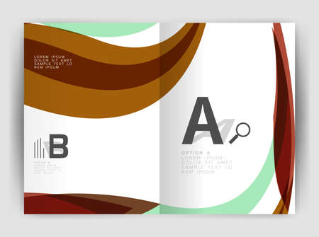 catalog: Wave design business brochure or annual report cover
