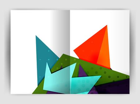 catalog: Triangle business print template