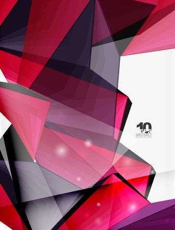 mesh: Low poly geometric 3d shape background